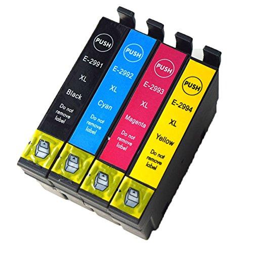 Ouguan, cartucce compatibili Epson 29XL 29, per stampanti Epson Expression Home XP-255 XP-257 XP-352 XP-355 XP-452 XP-455 XP-235 XP-332 XP-335 XP-432 XP-435 Pack de 4