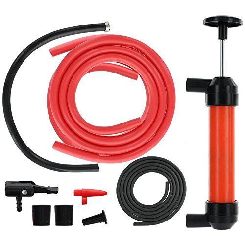SODIAL Kit pompa di trasferimento sifone multiuso, con tubo dell'astina di livello | Strumento di aspirazione per estrattore di carburante fluido per olio, benzina, acqua, liqu
