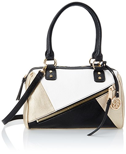 jessica-simpson-bella-mix-media-womens-white-cham-black-satchel-top-handle-bag