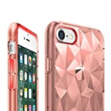 iPhone 7 Hülle, Ringke AIR PRISM 3D Design, ultra chic dünn schlang geometrisches Muster flexible Kompletthülle texturiert schützend TPU Fall geschützt Cover für das Apple iPhone 7 – Rosengold - 3