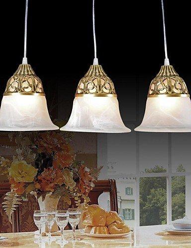 Wie&Joe pendente in bronzo a tre luci moiré-vetro europeo 220v classico