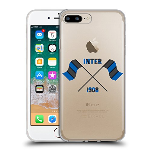 Offizielle Inter Milan 1908 Fahne 2017/18 Umhauen Soft Gel Hülle für Apple iPhone 7 Plus / iPhone 8 Plus