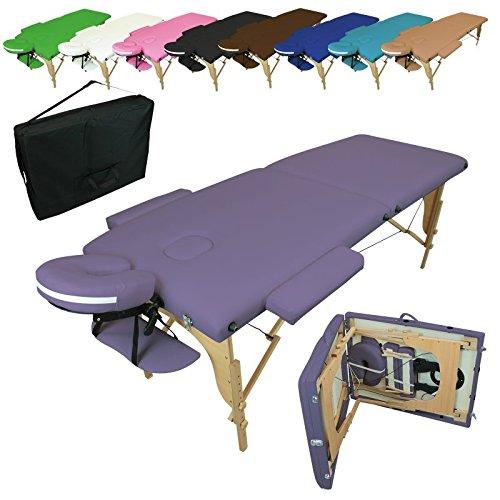 Vivezen  Table de massage pliante 2 zones en bois...