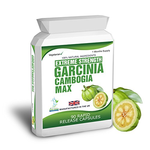 Body Smart Herbals - 90 Garcinia Cambogia Pure Extreme Detox Max Capsules Weight Management Product