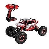 SZJJX, Fahrzeug, 2.4GHz-Fernsteuerung, 4WD-Allradantrieb, hochtourig, Maßstab 1:18, mitRC-Fernbedienung, Buggy, Rennauto, Crawler-Truck, Rot, Modell P1801