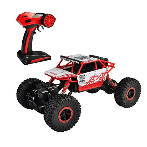 SZJJX RC Rock Off-Highway Car 2.4Ghz 4WD Excessive Pace 1:18 Racing Vehicles RC Vehicles Distant Radio Management Vehicles Electrical Rock Crawler Electrical Buggy Passion Automotive Quick Race Crawler Truck-Purple