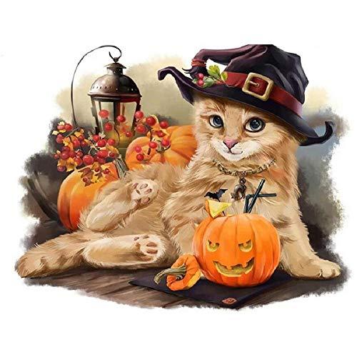 MAIYOUWENG Jigsaw Puzzle 1000 Stück Holzpuzzle Nette Katze Halloween Wizard Family Dekorationen, Einzigartige Geburtstagsgeschenk Geeignet Für Jugendliche Und Erwachsene