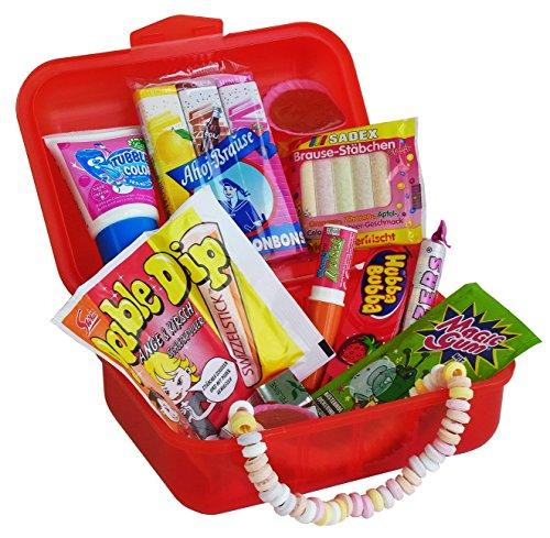 Geschenk Box Lunch Box mit verrückten Retro Süßigkeiten, 1er Pack (1 x (Aus Box Der Kostüme)