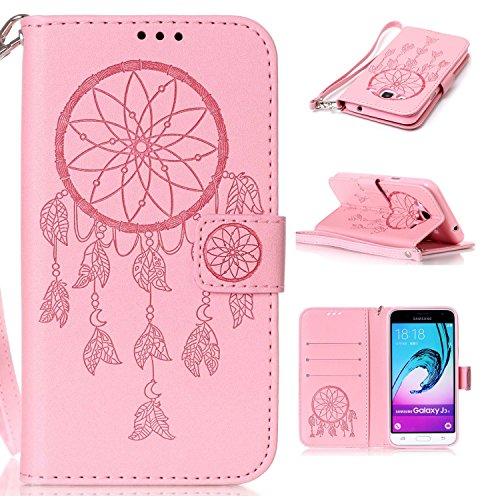 New Style gepresst Embossing Blumen Windchime Muster Retro Folio Flip Stehen Wallet Case mit Handschlaufe für Samsung Galaxy J310 ( Color : 14 , Size : Samsung Galaxy J310 ) 2