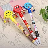 Grab Offers Cute Smiley Ball Point Pens For Kids/Birthday Return Gifts (Set Of 12 Pcs - Smiley Ball Pen)