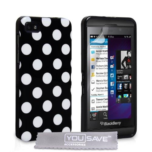 Fundas Blackberry Z10 Carcasas Blackberry Z10 Negro Silicona Gel Guisantes Elegantes Caso