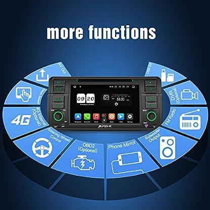PUMPKIN-Android-90-Autoradio-Radio-fr-BMW-3er-E46-mit-Navi-4GB-Untersttzt-Bluetooth-DAB-CD-DVD-Android-Auto-WiFi-4G-USB-MicroSD-1-Din-7-Zoll-Bildschirm