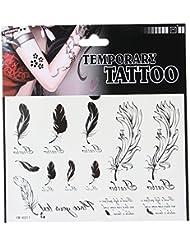 JTC 5 Papier Tatouage Temporaire imperméable Art Corporel Nouveau Design Petit Motif Simplement (011)
