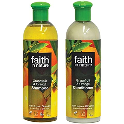 Faith In Nature Pompelmo & Arancione Shampoo 400ml & Balsamo 400ml (Pompelmo Duo)