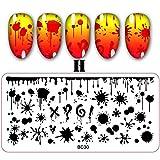 Quaan 9 Arten DIY Nagel Kunst Briefmarke Stempeln Platten Maniküre Vorlage Nagel Stempeln Platten Dekorationen Festivals Tätowierung Kosmetik