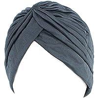 Zerama Chemo de Las Mujeres Plisado Pre Atado Cubierta de la Cabeza hacia Arriba de Punto Capo Casquillo Turbante Sun