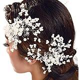Pearl Cubierto novia inserto de cabello peines hecho a mano joyería de pelo la moda para la Mujer Accesorios Para El Pelo