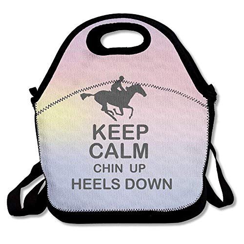 els Down Horse Riding Lunch Box Tote Bag ()