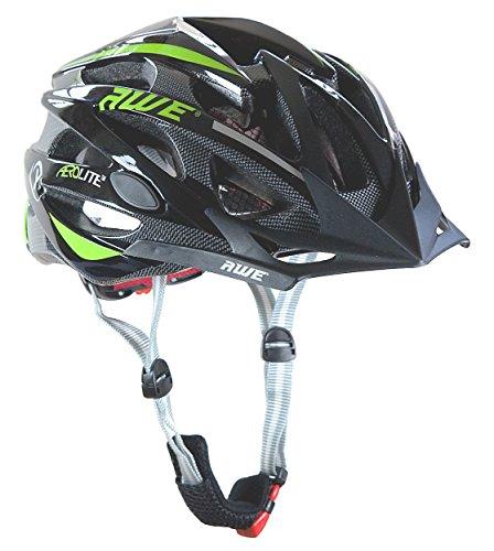 AWE® AeroLite™ Hombres de bicicleta casco - negro/verde, tamaño 58-61cm