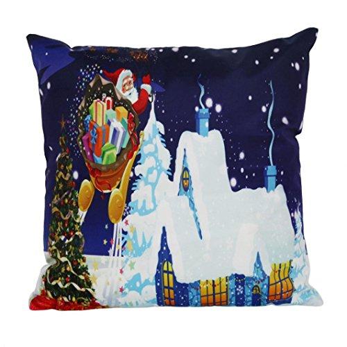 Pillow-top-matratze König-set (Kissen Kissen CHRISTMAS SANTA CLAUS Home dekoratives Kissen Polster für Sofa Überwurf Kissen Case Cover 18x 18 D)