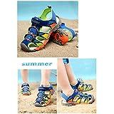 Geschlossene Sandalen Jungen Outdoor Sport Trekking Wander Sommer Schuhe für Kinder,Blau 29 - 7