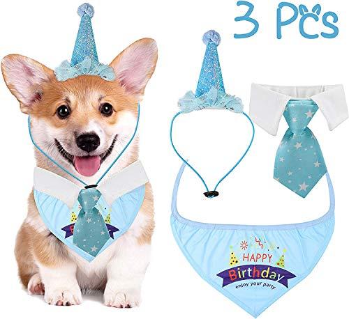 Hund E Kragen Kostüm - WATINC 3 Stück Pet Hunde Geburtstag