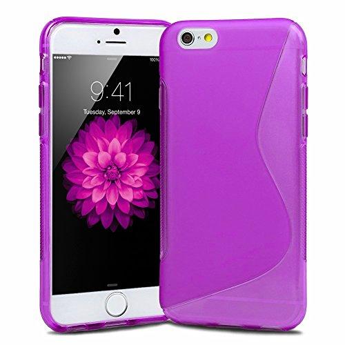 Slim S-LINE TPU Silikon Schutzhülle 11,9 cm (4,7 Zoll)  für Apple iPhone 6 Schale Vollfarbig weiß Violett