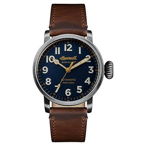 Ingersoll Herren Datum klassisch Automatik Uhr mit Leder Armband I04803