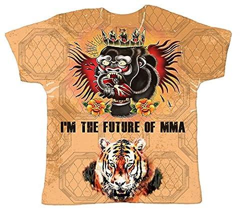 Baby Cage Fighter Octagon T-shirt, Je suis l'avenir de MMA, Top d'enfant, 0-6m, Blanc