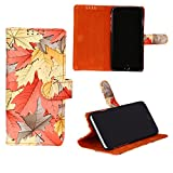 swankmobilecovers Wallet Flip Cover for Motorola Moto G5(LEAF-ORANGE)