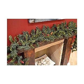 CHRISTMASSHOP 200cm Guirnalda de Navidad con Bayas Mixtas