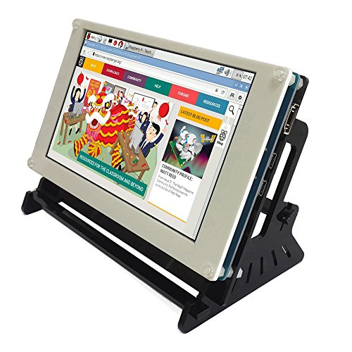 7 Zoll USB Touchscreen Display 800x480 IPS LCD Screen with Hdmi Input,Powered and Touch by USB, for Raspberry Pi/Banana pi-pro (Touch-screen-monitor)