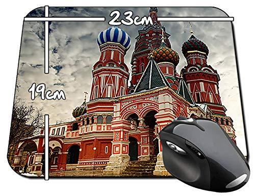 Catedral De San Basilio Plaza Roja Moscu Rusia St. Basil's Cathedral Red Square Moscow Russia B Mauspad Mousepad PC