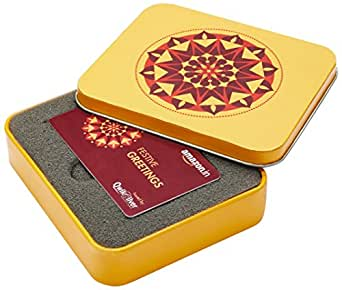 Amazon.in Yellow Gift Card Box - Rs.10000, White Card
