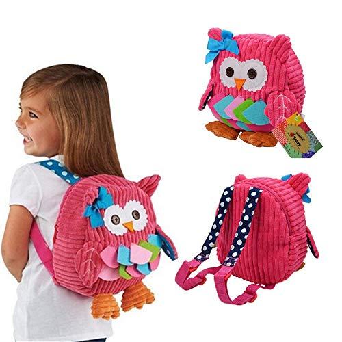 Babyrucksack Mini Backpack OASMU Kinderrucksack Kindergartentasche Schultasche für 1-7Jahre mädchen Junge,Rucksack Kindergarten Eule auswahlba (Rosa)