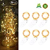 6 PCS FairyDecor Fairy Lights Battery Operated 7.2ft(2M) 20 Leds, Micro String Lights Copper Wire Batteries Powered String Light For Wedding Centerpiece Dinner Party Decoration