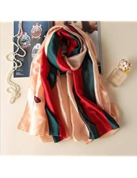 La moda de verano y otoño invierno de calidad de las mujeres pañuelo de seda imprimir mantón bufanda suave ,polvo...