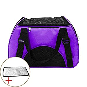 UNITONA-Pet-Carrier-Car-Seat-Carrying-Bag-for-Dogs-or-Cats-17x8x11-inch-Travel-Handy-Folding-Soft-sided-Expandable-Carrier-Handbag-Shoulder-bag