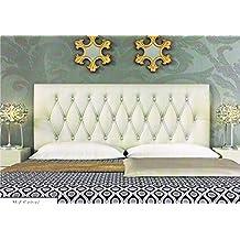 colchones y muebles baratos Cabecero tapizado Capitone (90cm)