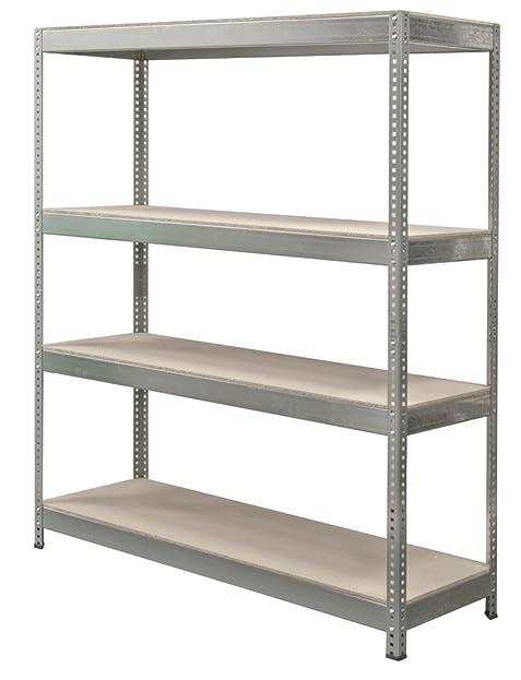Steckregal holz  Ironside 140092 Steckregal Holz/Metall 180 x 150 5 Böden ...