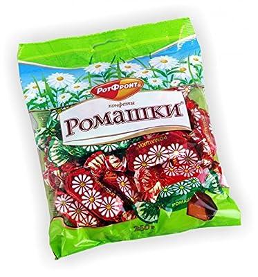 Fondant Konfekt Romaschki mit Fettglasur 250g Dovgan Russische Lebensmittel