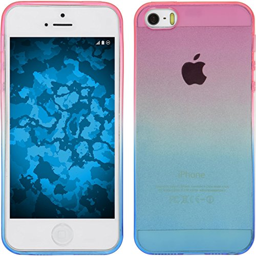 Funda de silicona para Apple iPhone 5 / 5s / SE - Ombrè Design:06 - Cover PhoneNatic Cubierta + protector de pantalla