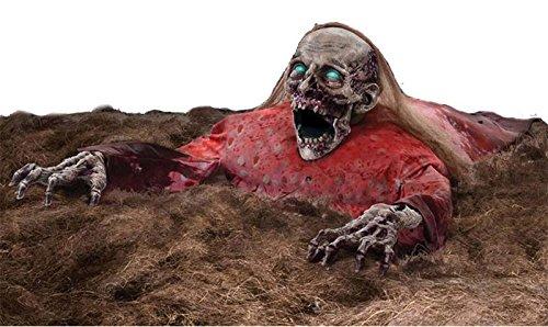 Animatronic Leiche Puppe Dead Doris Licht Sound Bewegung Untoten Zombie Torso elektronisch Leuchtaugen Sound Bewegung