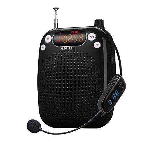 Zoweetek® Teléfono celular de amplificador de voz altavoz - FM Radio - MP3 con micrófono de los auriculares y pilas prepago para guías, profesores, oradores, facilitadores,(batería de litio de 1500mAh)