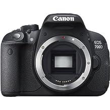 """Canon EOS 700D - Cámara réflex digital de 18.0 Mp (pantalla táctil articulada de 3.0"""", sensor CMOS, grabación de vídeo Full HD) color negro - solo cuerpo"""
