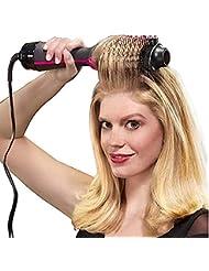 2 in1 Heißluft Lockenwickler Haartrockner Haarbürste Styling Roll Kamm Hairdryer