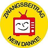 Aufkleber / Sticker - Zwangsbeitrag Nein Danke! (Sticker-Set, 10 Stück)