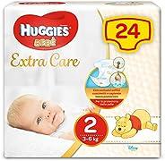 Huggies Bebè Pannolini, Taglia 2 (3-6 kg), 1 Pacco da 24 Pezzi