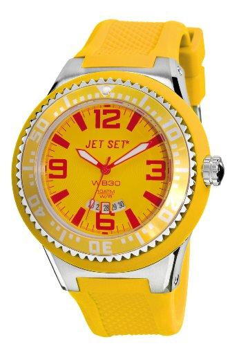 Jet Set - J54443-06 - Wb30 - Montre Homme - Quartz Analogique - Cadran Multicolore - Bracelet Caoutchouc Jaune