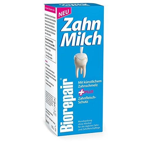 Biorepair Zahn-Milch, 500ml - Mit künstlichem Zahnschmelz + Zahnfleisch-Schutz, 2er Vorteilspack (2x 500ml)